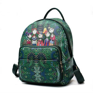 Bohemian Forest Style Large Capacity Print Backpack