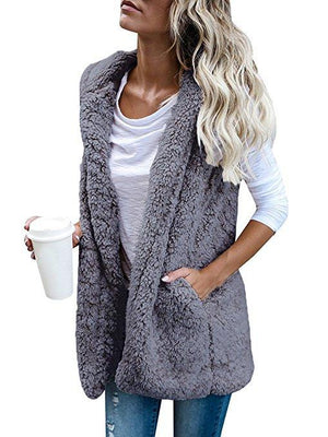 Winter Fashion High quality Faux Fur Vest coat Luxury Vests Jackets