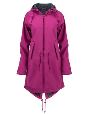 Long Sleeve Hooded Zipper Pockets Coats