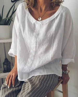 Plus Size Causal Solid Color Long Sleeve Shirts