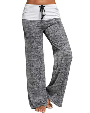 Sport Yoga Women Wide Drawstring Leg Pants