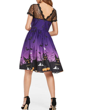 Vintage Lace Insert Halloween Dress