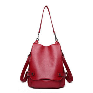 Genuine Leather Multifunctional Crossbody Bag Shoulder Bag Backpack