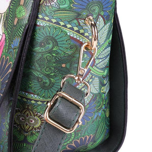 Women PU Leather Green Series Crossbody Bags Shoulder Bag