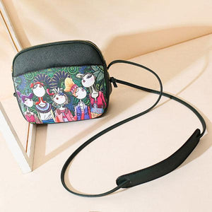 Bohemian Forest Shell Crossbody Bag PU Leather Shoulder Bag