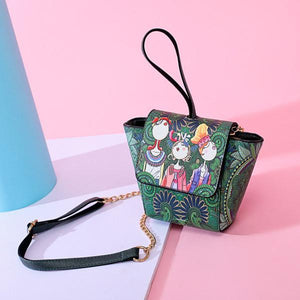 National Stylish Green Flap Shoulder Bags Crossbody Bags Clutch