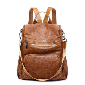 Vintage Anti-theft Large Capacity Multi-function Backpack Shoulder Bag