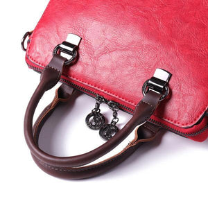 Retro Faux Leather Hangdbag Korea Style Crossbody Bag