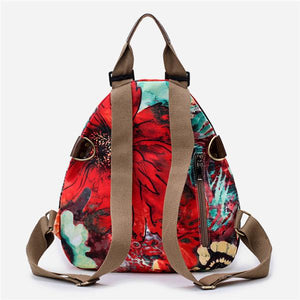 Multifunctional Flower Pattern Bag Waterproof Backpack