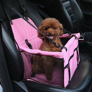 Portable Pet Car Seat Belt Booster Bag Dog Cat Safety Travel Carrier Bag