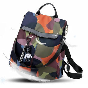 Fashion Oxford Contrast Color Multifunctional Waterproof Anti-theft Backpack