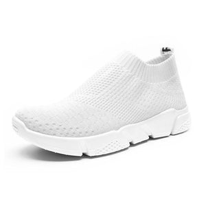 White All Season Elastic Cloth Sneaker Shoes