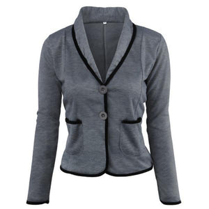 Angora-blend Shawl Collar Jacket