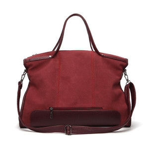 Large Capacity Handbag Solid Stitching Casual Crossbody Bag