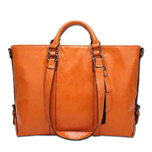 Women Pu Leather Tote Handbags Casual Large-Capacity Crossbody Bags Shoulder Bags