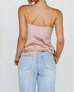 Summer Solid Ruffled Sling Strapless Vests Tops