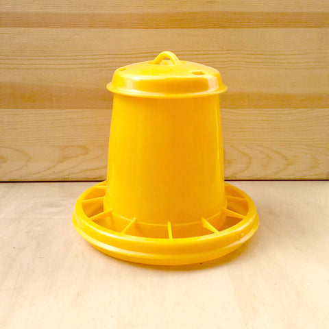 Yellow Plastic Hanging Feeder - holds 3lbs