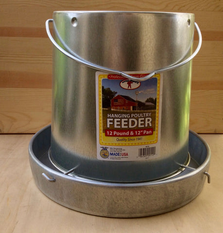 Galvanized Hanging Feeder - holds 12lbs