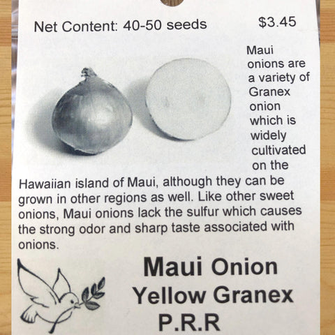 Onion, Maui, Yellow Granex