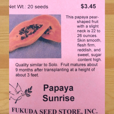 Papaya, Sunrise
