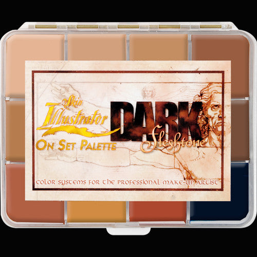 Skin Illustrator On Set Dark Flesh Tone Palette