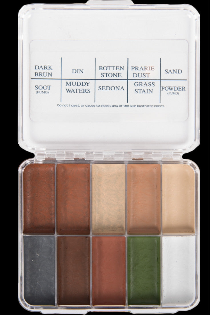 Skin Illustrator On Set Grunge Palette