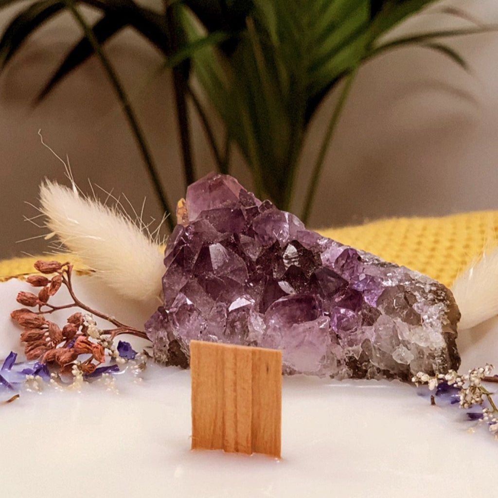 Amethyst Crystal Cocoon Bowl Candle