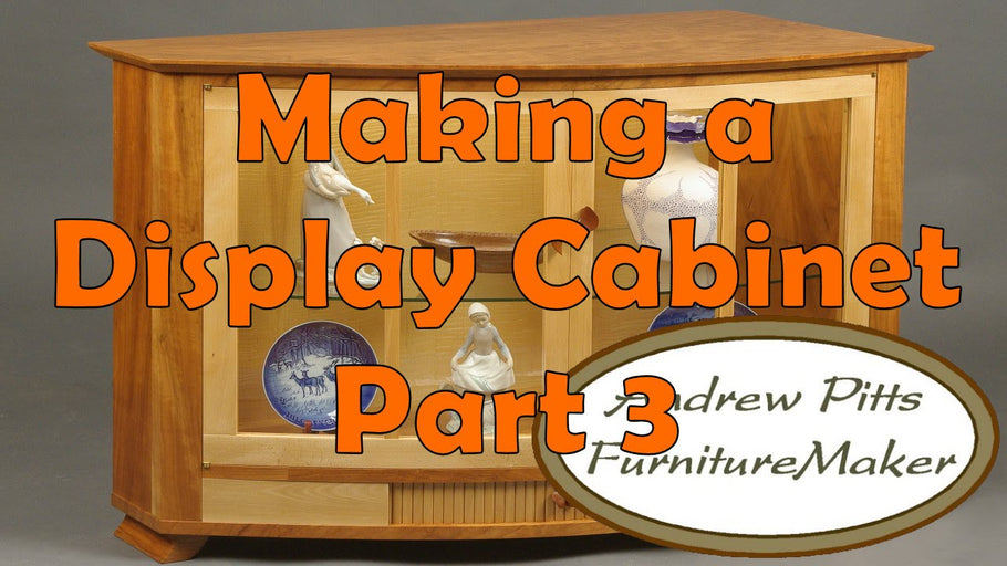 This 8-part series is all about making a unique custom display cabinet of cherry, beech, and curly maple