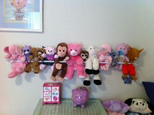 10 Clever Ways To Display Your Plush Toys - That Don't Include Shelves! - For Kids AND Collectors
