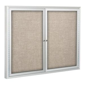 Deluxe Enclosed Bulletin Board With Two Hinged Doors