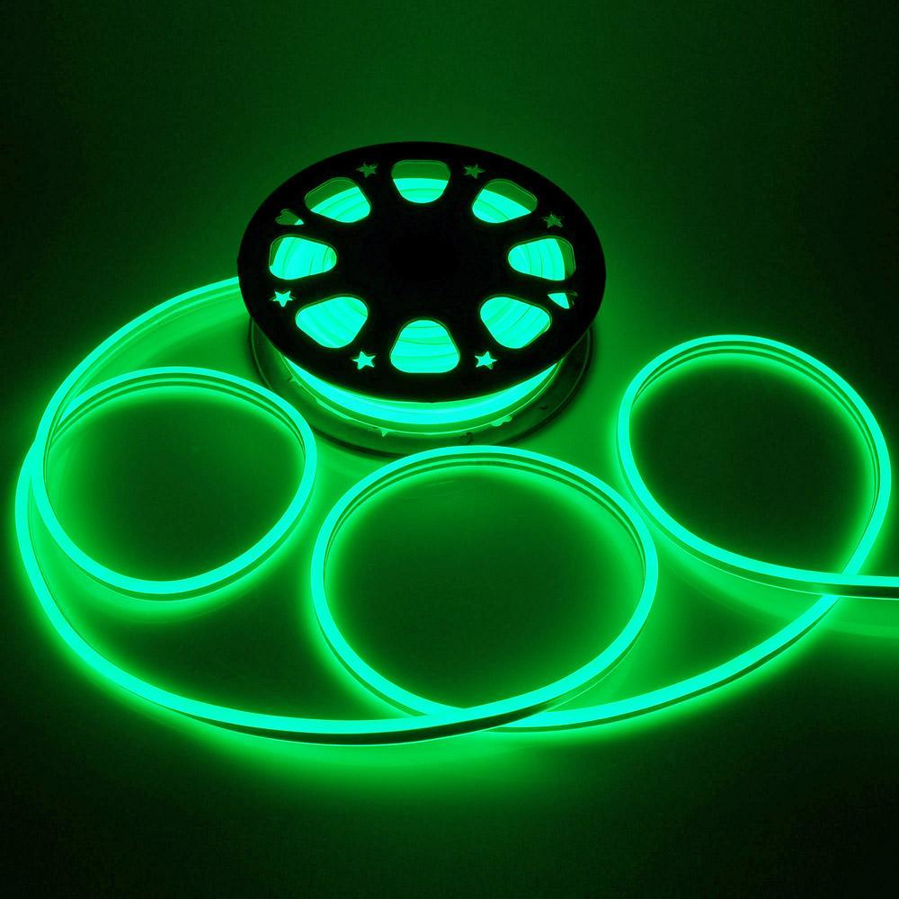 50ft Double Sided SMD2835  LED Flexible Neon Stripe Light Green