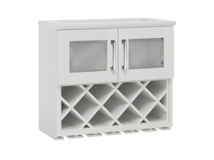 Home Bar Wall Wine Rack Cabinet - 24""