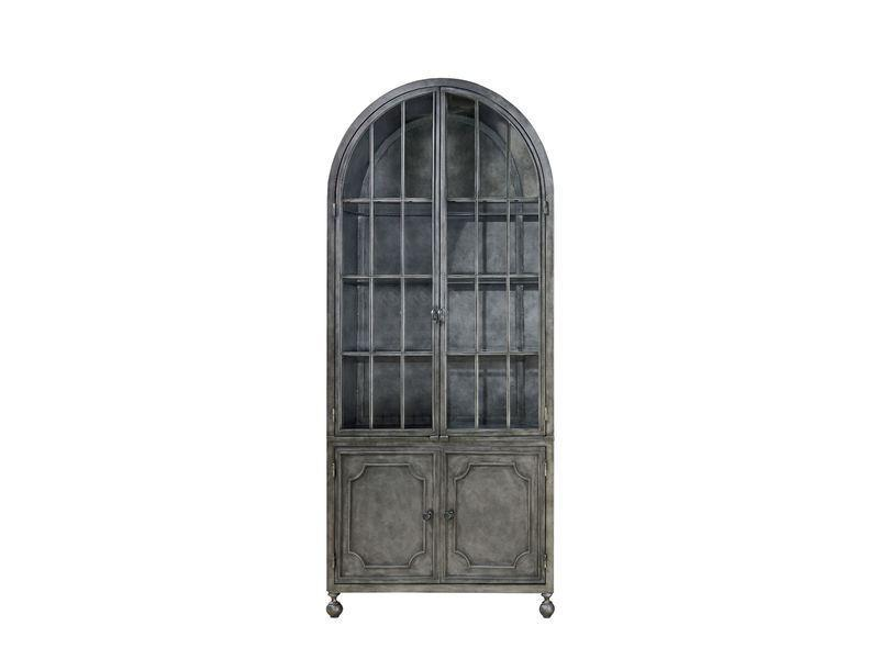 Remix Curated Antiqued Iron Metal Display Cabinet