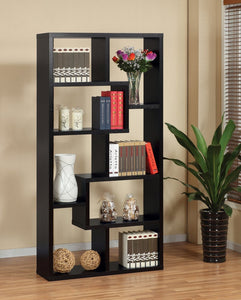 Black Two Way Display Cabinet / Bookcase