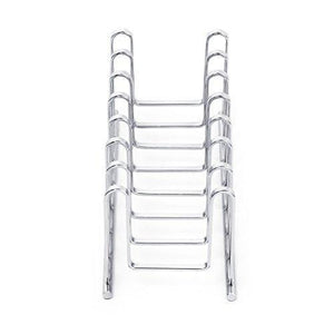 Exclusive mallize compact dish drying rack holder cupboard 7 slot plate storage organizer silver