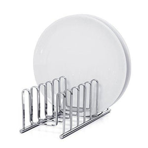 Discover mallize compact dish drying rack holder cupboard 7 slot plate storage organizer silver