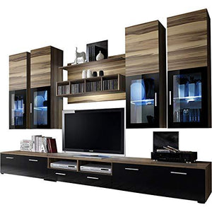 Domadeco Presto TV Entertainment Center/Wall Units with tv Stand Modern Furniture Media Stands Color (Baltimore and Black)
