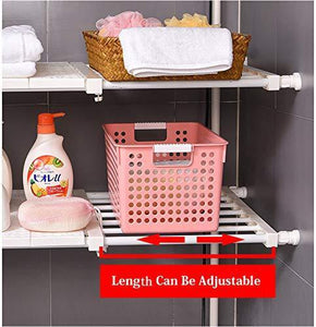 Home hyfanstr adjustable storage rack expandable separator shelf for wardrobe cupboard bookcase compartment collecting length 28 7 51 width 16 5 white