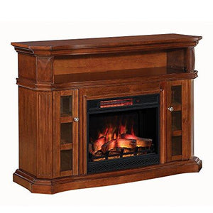 "ClassicFlame 23MM774-W502 Bellemeade TV Stand for TVs up to 60"", Burnished Walnut (Electric Fireplace Insert sold separately)"