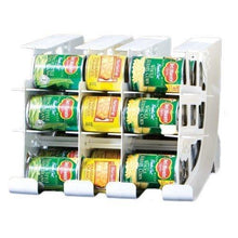 Load image into Gallery viewer, Select nice fifo can tracker stores 54 cans rotates first in first out canned goods organizer for cupboard pantry and cabinet food storage organize your kitchen made in usa