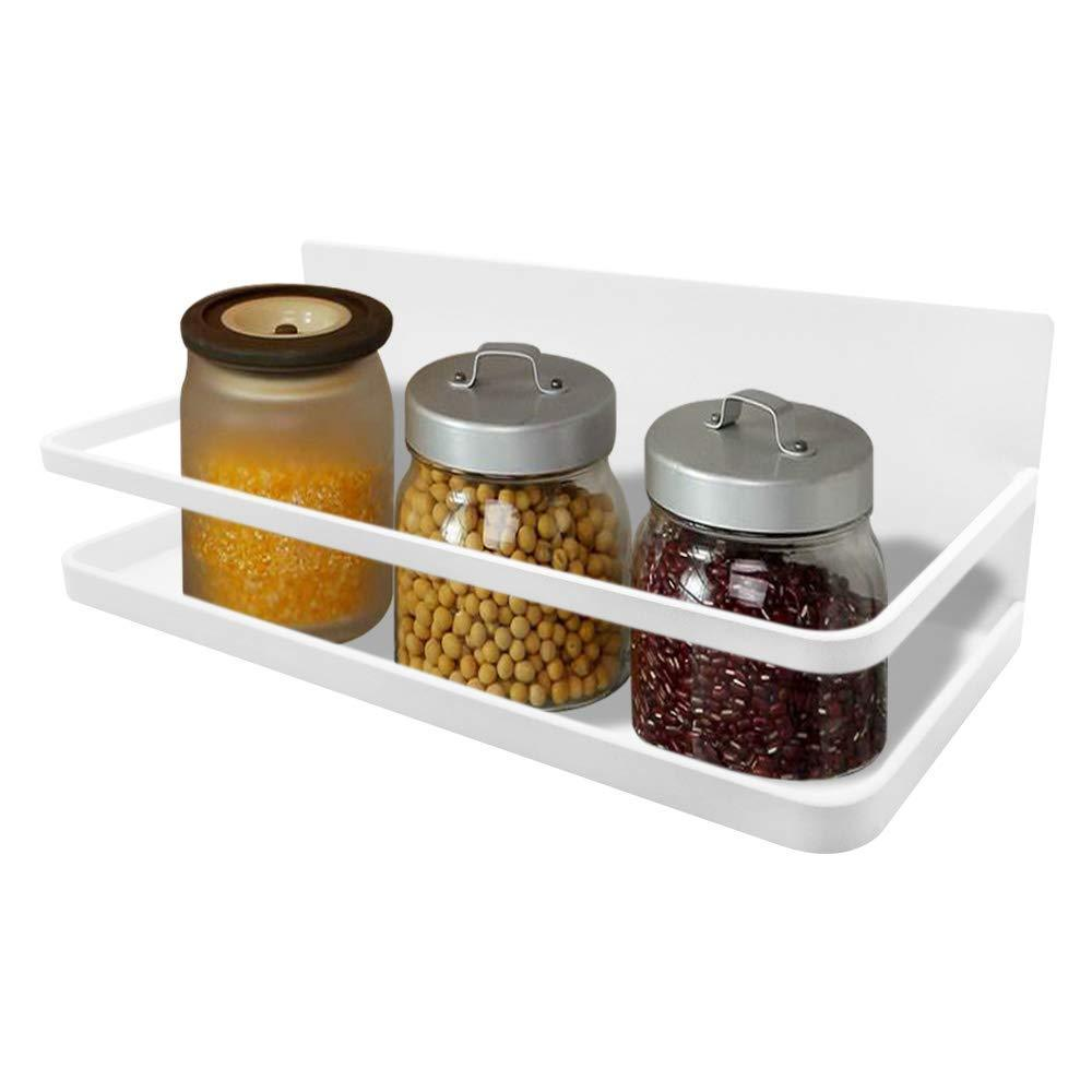 Save on spice rack monoled spice rack organizer magnetic single tier fridge spice rack shelves organizer space saving storage rack for refrigerator kitchen cabinet cupboard pantry door seasonings white