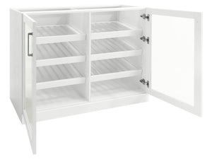 Home Bar Double Display Cabinet - 42""
