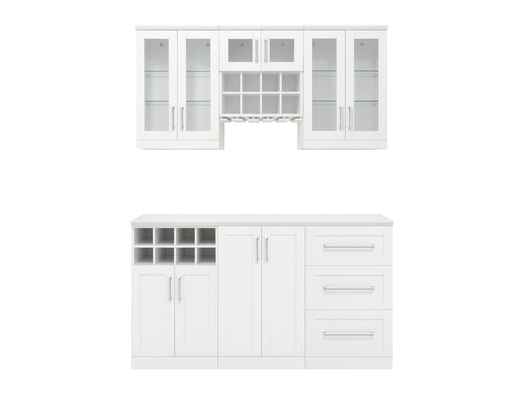 Home Bar 7 Piece Cabinet Set - 21