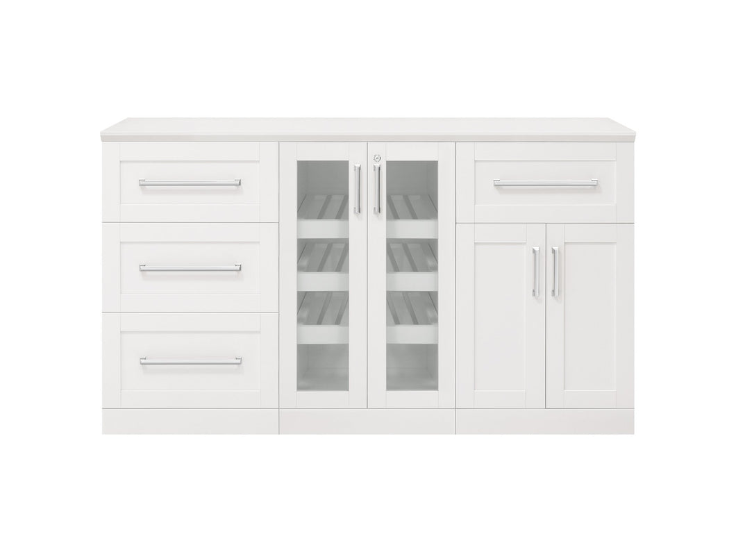 Home Bar 4 Piece Cabinet Set - 21