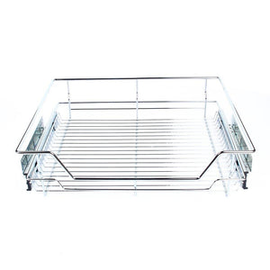 Featured gototop kitchen sliding cabinet organizer pull out chrome wire storage basket drawer for kitchen cabinets cupboards 20 3 17 35 3