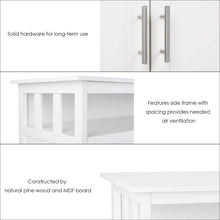 Load image into Gallery viewer, Shop for homfa kitchen sideboard storage cabinet large dining buffet server cupboard cabinet console table with display shelf and double doors white