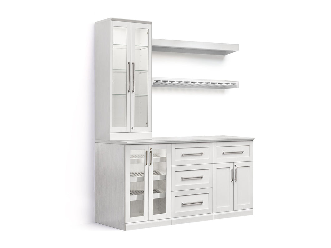 Home Bar 7 Piece Cabinet Set - 24