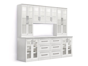Home Bar 9 Piece Cabinet Set - 24""