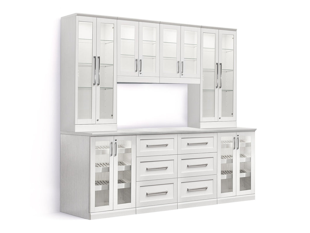 Home Bar 9 Piece Cabinet Set - 24