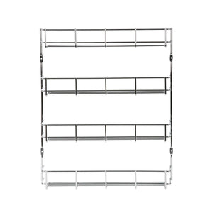 New exzact exerz herb and spice rack 4 tiers kitchen shelf organiser for jars perfect space saving and storage wall mountable or cupboard door fitting fixings included in the package exsr004 4